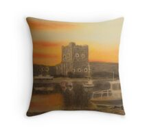 Carrickfergus Castle at dawn Throw Pillow