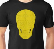 Navy LS - Day of the Dead Embossed Gold Unisex T-Shirt
