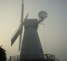 Dawn Mist At Woodchurch Mill by Dave Godden