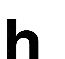 Helvetica Lowercase - h by edgargarcia