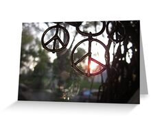Sunlight Peace Greeting Card