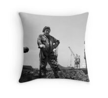 Liverpool Coal Trimmer Throw Pillow
