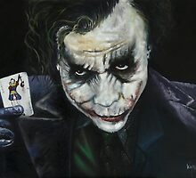 JOKER-OIL ON CANVAS by Wayne Dowsent