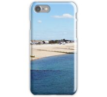 Selsey Beach on a calm day. ( Bognor can be seen in the Distance) iPhone Case/Skin