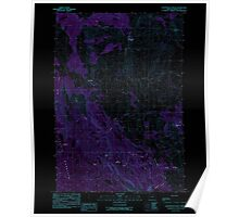 USGS Topo Map Oregon Courthouse Rock 279459 1990 24000 Inverted Poster