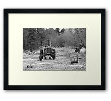 Once Upon a Tractor Framed Print