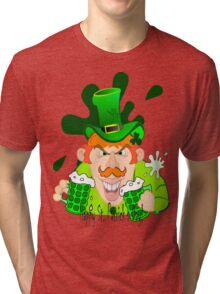 Happy St. Patrick's Day Guy Tri-blend T-Shirt