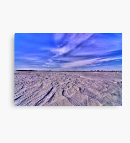 Snow HDR Canvas Print