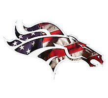 Denver Broncos logo 5 Photographic Print