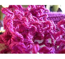 Pink Yarn Photographic Print