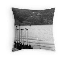 oar in arow Throw Pillow
