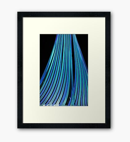Streams of blue Framed Print