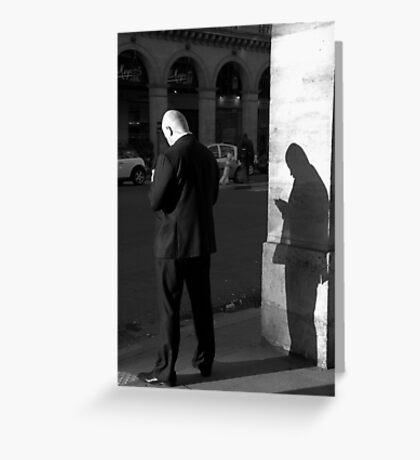 Paris - Double agent. Greeting Card