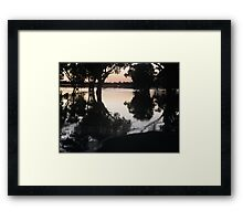 Rising waters Framed Print