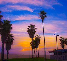 Sunset on Venice Beach in CA by Joe Bashour