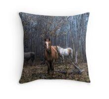 Autumn Livestock Throw Pillow