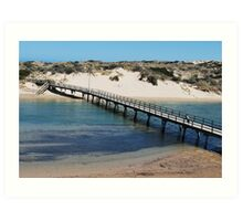 Port Noarlunga Foot Bridge Art Print