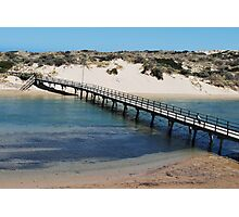 Port Noarlunga Foot Bridge Photographic Print
