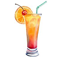 coctail juice print Photographic Print