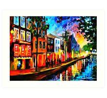 Amsterdam - Red Lights Art Print