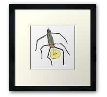 light bulb bug Framed Print