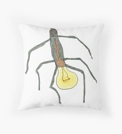 light bulb bug Throw Pillow
