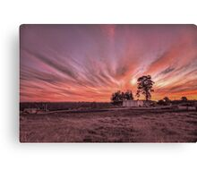 "Silverdale Sunset Series (5) - ""End Of Day"" NSW, Australia Canvas Print"