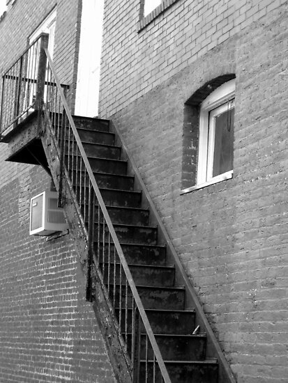 Old Fire Escape - Mars Hill, N.C. by Glenn Cecero