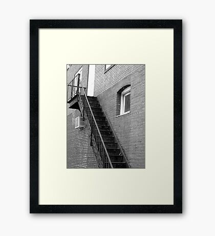 Old Fire Escape - Mars Hill, N.C. Framed Print