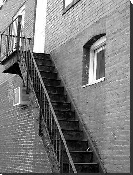 Old Fire Escape - Marshall, N.C. by Glenn Cecero