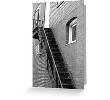 Old Fire Escape - Mars Hill, N.C. Greeting Card