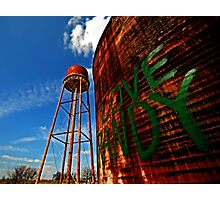 Water Tower - Somewhere Near Justin, Texas Photographic Print