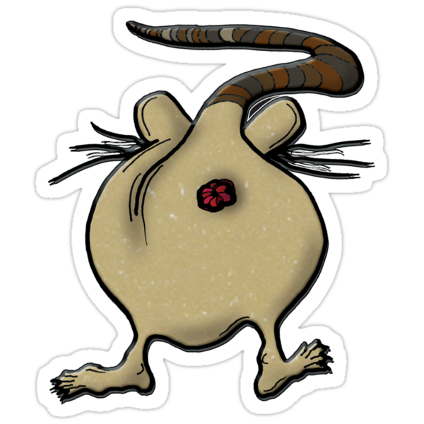 rat's ass!!!! - sticker by vampvamp
