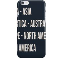 Across the 7 continents iPhone Case/Skin