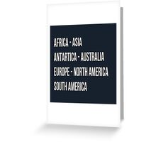 Across the 7 continents Greeting Card
