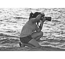 Shooting at the Beach Photographic Print