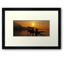 Golden Moment At Dal Lake Framed Print