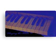 Playing the Blues - Piano keys abstract  Canvas Print