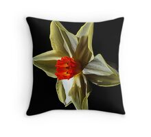 Daffodil head Throw Pillow