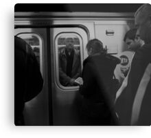 Crowded Commute Metal Print