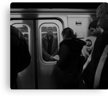 Crowded Commute Canvas Print