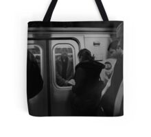 Crowded Commute Tote Bag