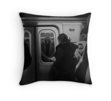 Crowded Commute Throw Pillow