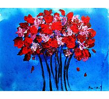 Red Bouquet Photographic Print