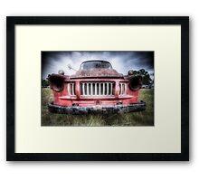 Red Bedford - HDR Framed Print