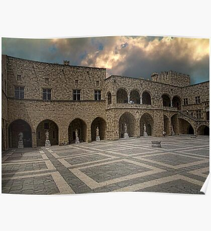 Grand Maters Palace Rhodes Greece Poster