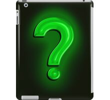 Question Mark Light Bulb iPad Case/Skin
