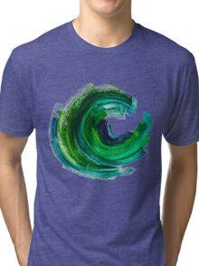 Colorful Watercolor Stroke Tri-blend T-Shirt