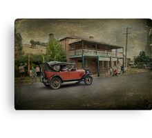 Vintage Motoring Canvas Print