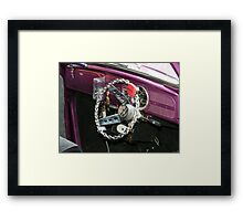 Custom Violet's Steering Wheel Framed Print